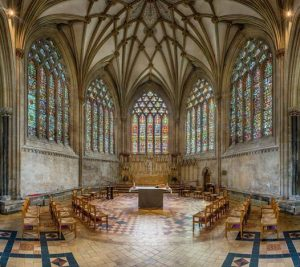 Lady Chapel at Wells Cathedral, England.