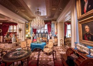 The Drawing Room at Cliffe Castle in Keighley, West Yorkshire, England.
