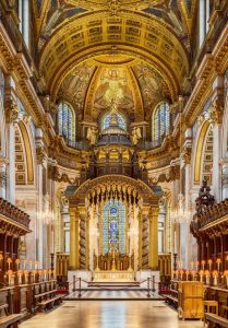 The High Altar of St Paul's Cathedral, London.
