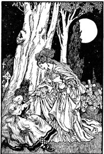 Art by Willy Pogany (1910) from FOLK TALES FROM MANY LANDS.