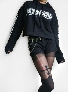 Born Dead Clothing Collaboration ~ Curbside Crop Hoodie