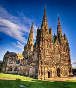 Lichfield Cathedral, England.