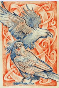 Ravens … Birds of Power and Mystery have long been associated with ceremonial mythology.