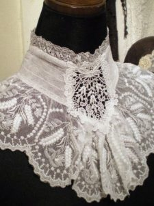 Would be easy to do as a restyle..use a shirt cuff for the side and then add old laces for the l ...