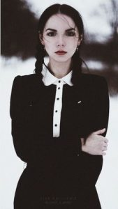Grown up Wednesday Adams, what's not to love?