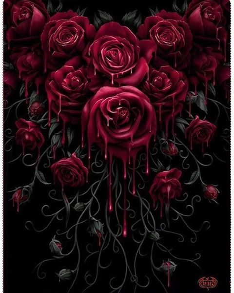 A beautiful garland of gothic roses to keep you warm during the fall is available at the Inked S ...