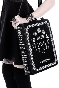 This Celestrial Magic Moon Book Bag looks just like a big book of moon spells. It is so unique a ...