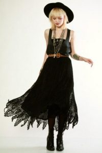 90's Does 70's Crochet Lace Dress from Thrifted and Modern. Wear it black! New gothic  ...