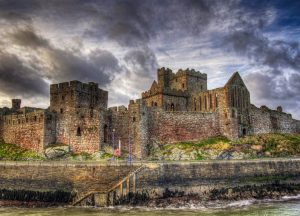 Peel Castle, Isle of Man, British Isles.