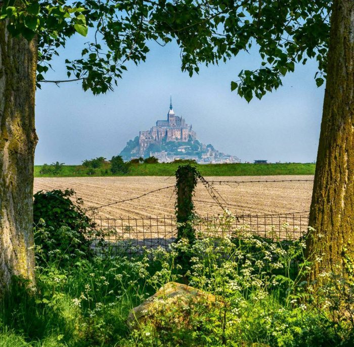 Mont St Michel shrouded in an ethereal light. Normandy, France.