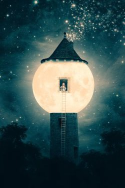 The Moon Tower Art Print by Paula Belle Flores | Society6