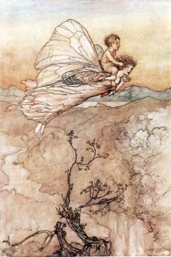A Midsummer-Night's Dream Act IV, Scene I: … and her fairy sent To bear him to my bow ...