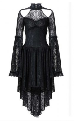 Dark In Love Lace Bell Sleeve Dress