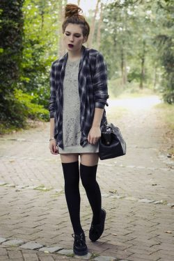 How to Sport Thigh High Socks