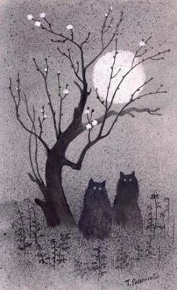 Moon and Cats.