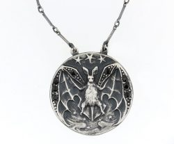 Night Creature: Art Nouveau Bat Necklace
