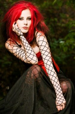 Red haired goth