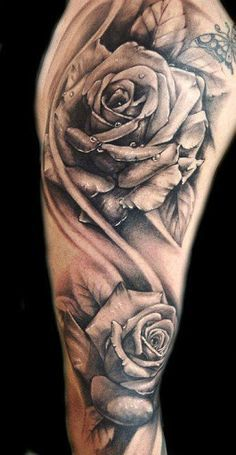tattoo sleeve girl roses