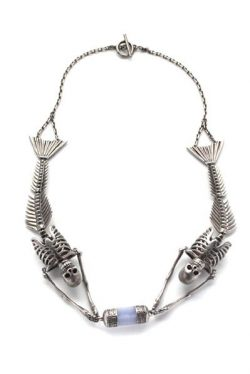 mermaid skeletons necklace