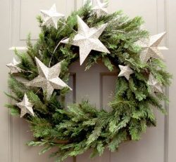 Silver star wreath >> Pretty!
