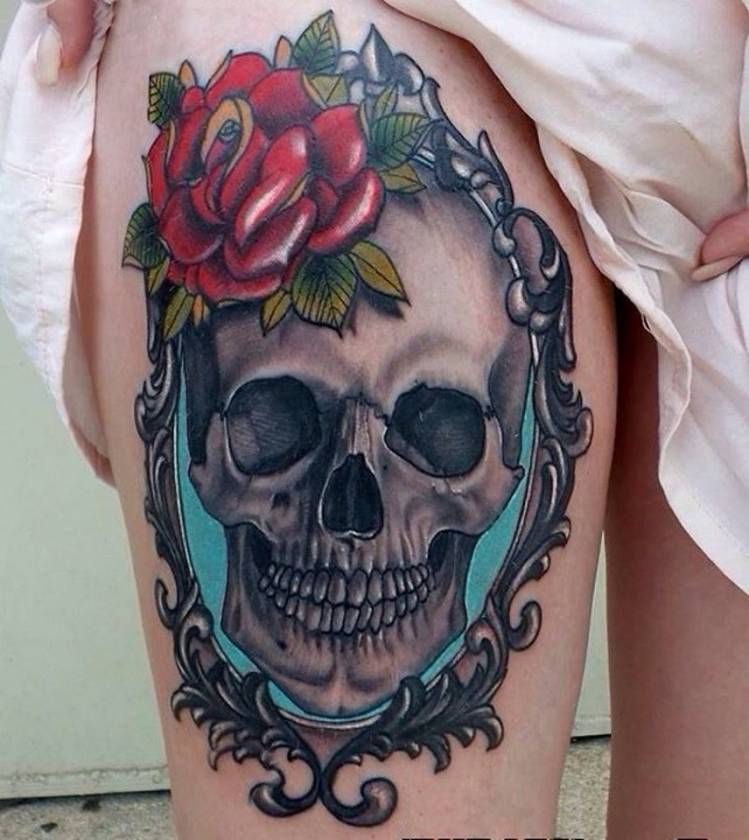 This is beautiful. And the blue behind the skull makes the whole thing pop, in my eyes. Love it.